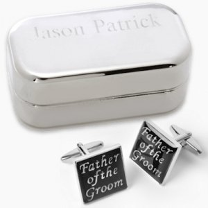 Father of the Groom Cufflinks with Personalized Case image