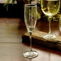 Monogrammed Engraved Toasting Glass