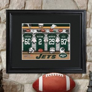 Personalized Framed NFL Locker Room Print image