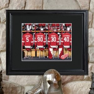 Personalized Framed NHL Locker Room Print image
