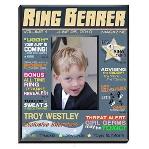 Personalized Ring Bearer Magazine Frame image