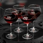 Personalized Red Wine Glass Set