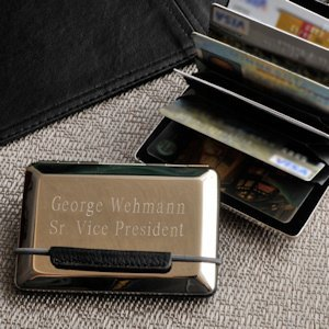 Personalized Executive Card Case image
