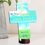 Bright Blessings Personalized First Communion Cross