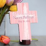 Personalized Pink First Communion Cross
