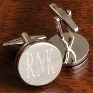 Personalized Pin Stripe Cufflinks image