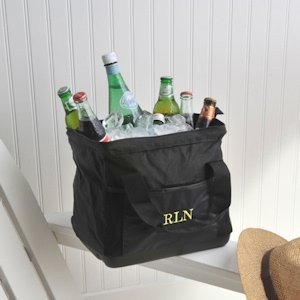 Large Mouth Personalized Cooler Bags (15 Thread Colors) image