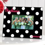 Personalized Dots Bridal Party Picture Frames (6 Colors)
