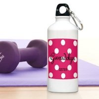 Personalized Polka Dot Water Bottles - 6 Colors