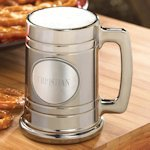 Gunmetal Mug with Personalized Pewter Medallion