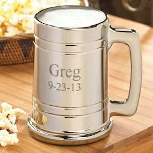 Personalized Gunmetal Beer Stein image