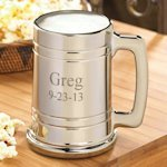 Personalized Gunmetal Beer Stein