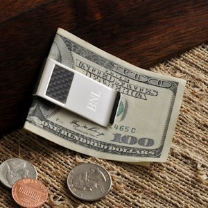Personalized Carbon Fiber Money Clip image