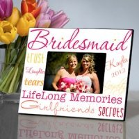 Kaleidoscope Personalized Bridesmaid Frames - 7 Colors