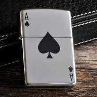 Personalized Zippo Ace of Spades Lighter