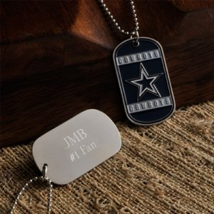 Personalized True Colors NFL Dog Tags image