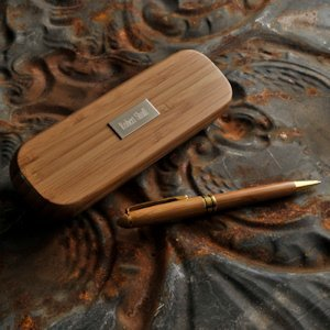 Personalized Bamboo Pen Set image