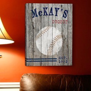 Personalized Baseball Canvas Print image