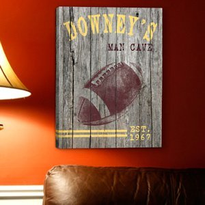 Personalized Football Canvas Print image
