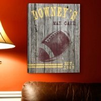 Personalized Football Canvas Print