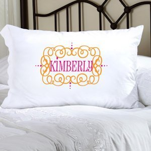 Personalized Glamour Girl Pillow Case image