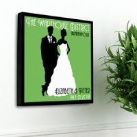 Personalized Wedding Couple Studio Canvas (6 Colors)