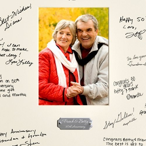 50th Birthday Signature Photo Frame: Personalized Anniversary Party Signature Frame