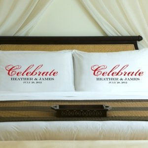 Personalized Celebration Couple Pillow Case Set image