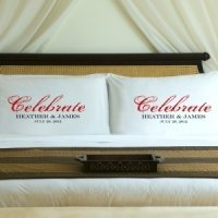 Personalized Celebration Couple Pillow Case Set