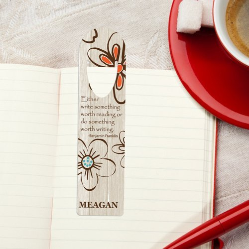 Famous Quotes Personalized Bookmarks 3 Designs