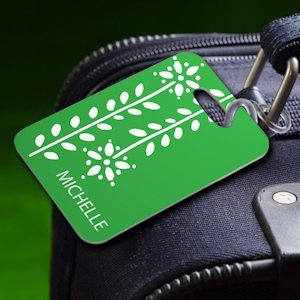Personalized Botanic Luggage Tag image