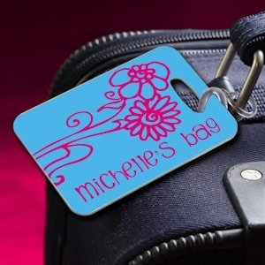 Personalized Daisy Luggage Tag image