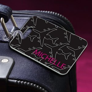 Personalized Jet Setter Black Luggage Tag image