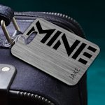 Personalized 'MINE' Luggage Tag