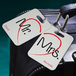 Personalized Honeymoon Luggage Tags - 7 Designs image