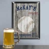 Woodgrain Style Sports Pub Signs (5 Designs)