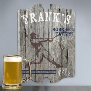 Vintage Woodgrain Sports Pub Signs (5 Designs) image