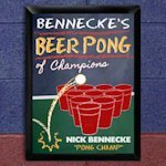 Personalized Beer Pong Champion Pub Sign