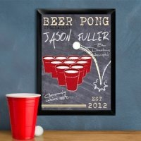 Personalized Beer Pong Specialist Pub Sign