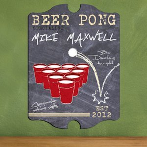 Vintage Personalized Beer Pong Specialist Pub Sign image