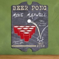 Vintage Personalized Beer Pong Specialist Pub Sign