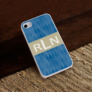 Personalized Blue Diamonds iPhone Case image