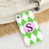 Personalized Green Diamonds iPhone Case