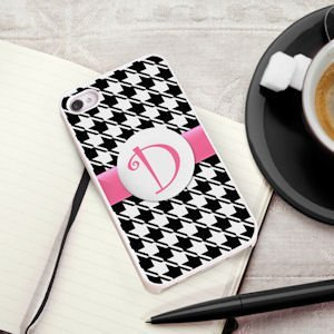 Personalized Houndstooth iPhone Case image