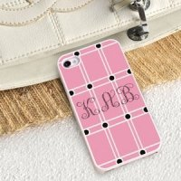 Personalized Perky Pink iPhone Case