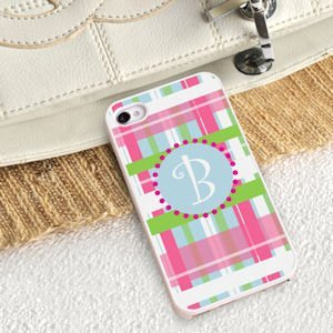 Personalized Preppy Plaid iPhone Case image