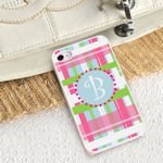 Personalized Preppy Plaid iPhone Case