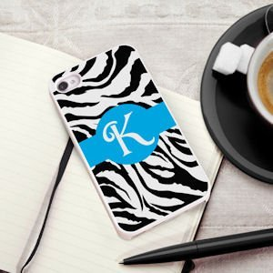 Personalized Zany Zebra iPhone Case image