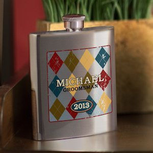 Personalized Argyle Design Flasks for Men (4 Options) image