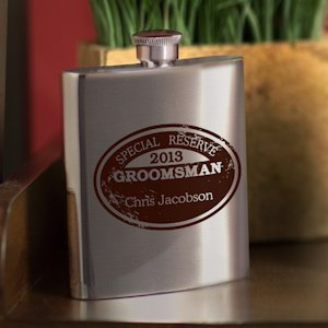 Special Reserve Personalized Groomsman Flask (4 Options) image